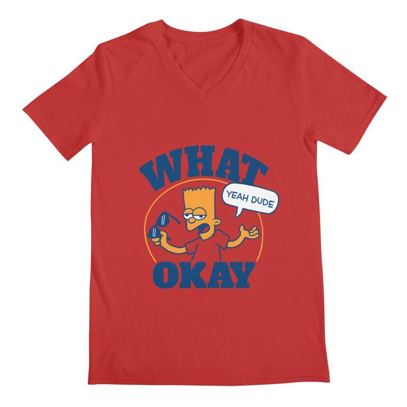 What Okay Men's V-Neck by jublin's Artist Shop