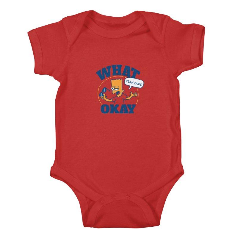 What Okay Kids Baby Bodysuit by jublin's Artist Shop