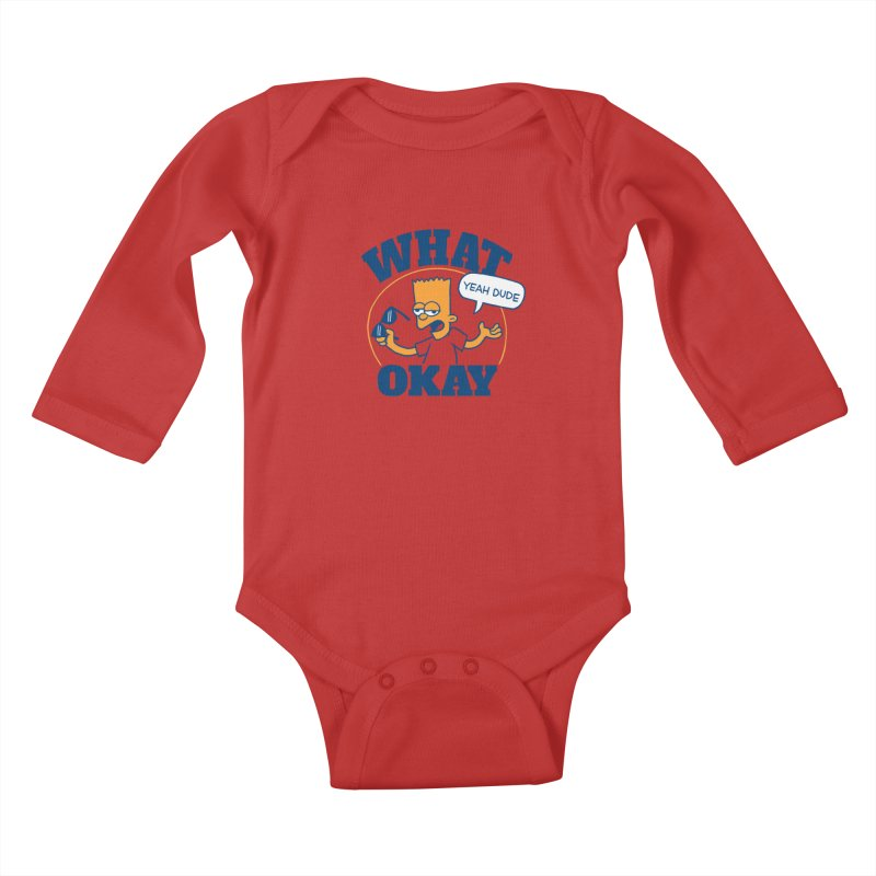 What Okay Kids Baby Longsleeve Bodysuit by jublin's Artist Shop