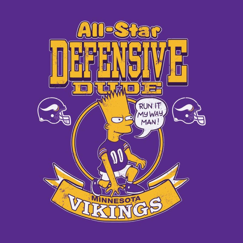 Minnesota Defensive Dude Men's T-Shirt by jublin's Artist Shop