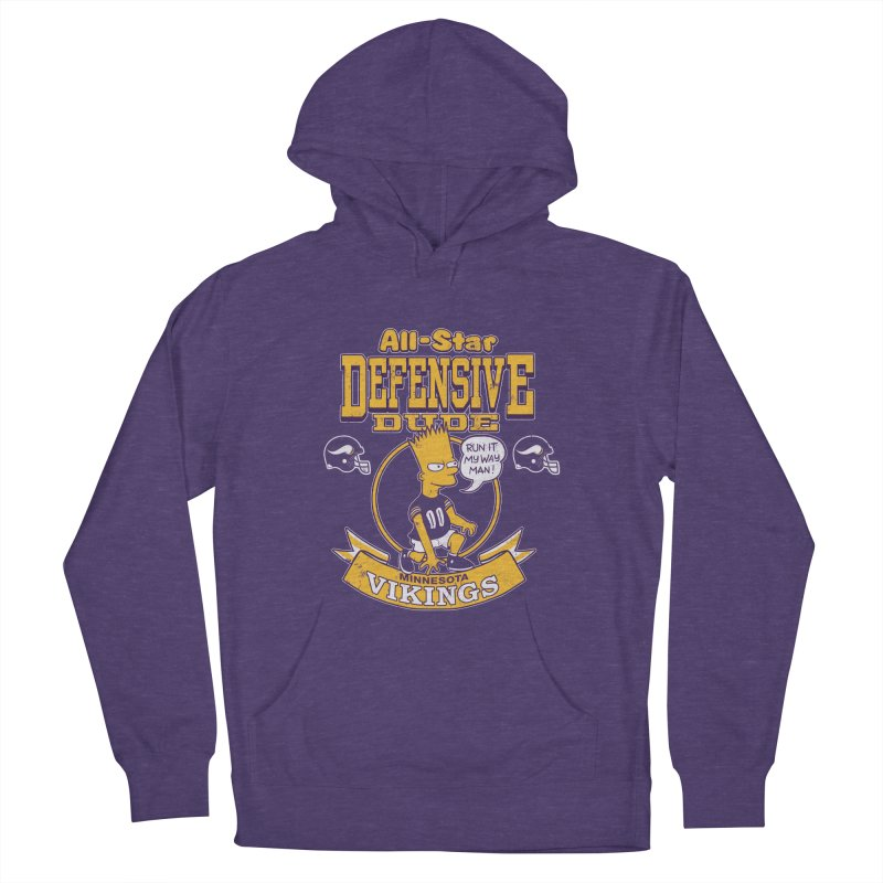 Minnesota Defensive Dude Women's French Terry Pullover Hoody by jublin's Artist Shop