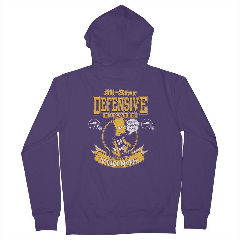 Minnesota Defensive Dude Women's French Terry Zip-Up Hoody by jublin's Artist Shop