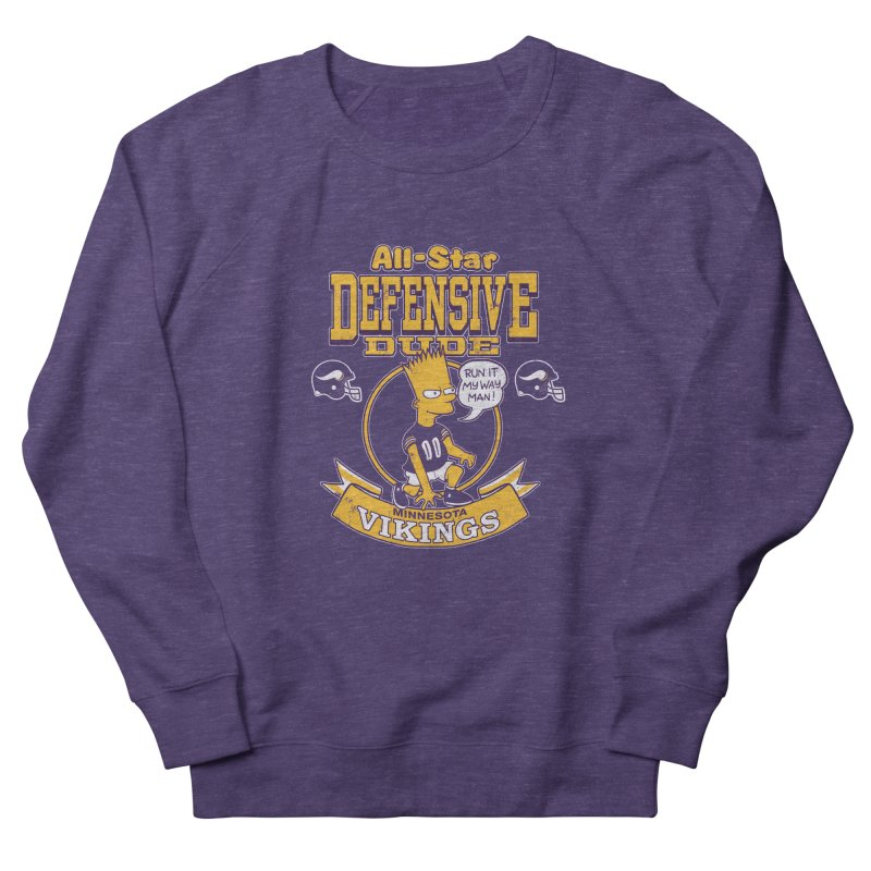 Minnesota Defensive Dude Men's Sweatshirt by jublin's Artist Shop