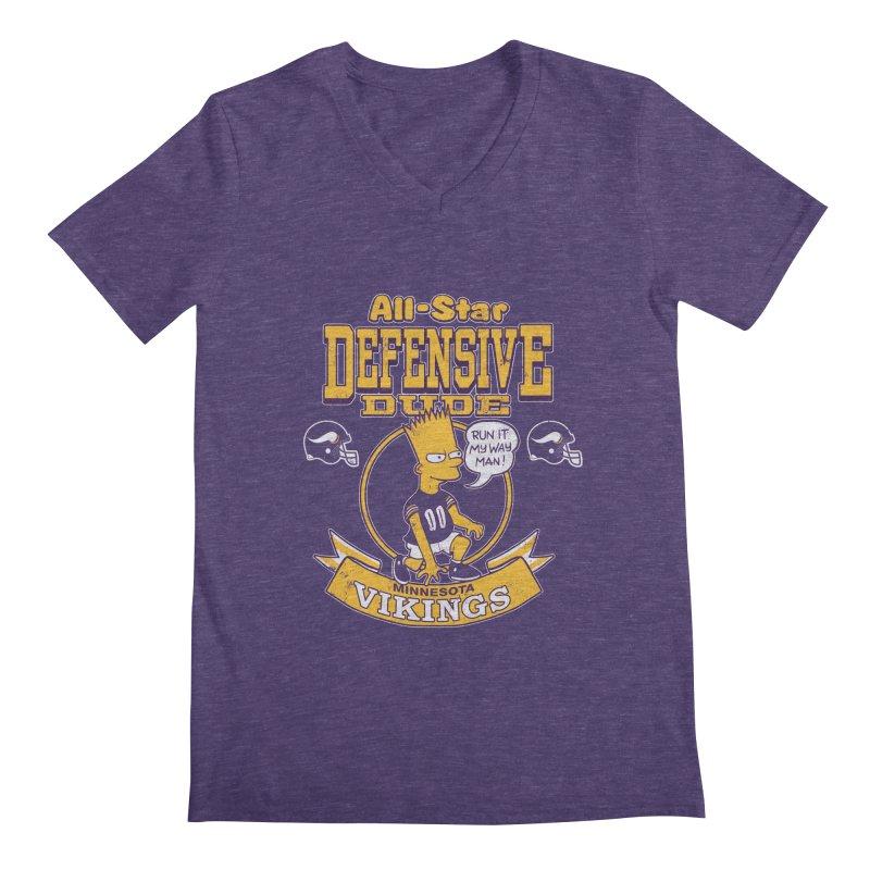 Minnesota Defensive Dude Men's V-Neck by jublin's Artist Shop