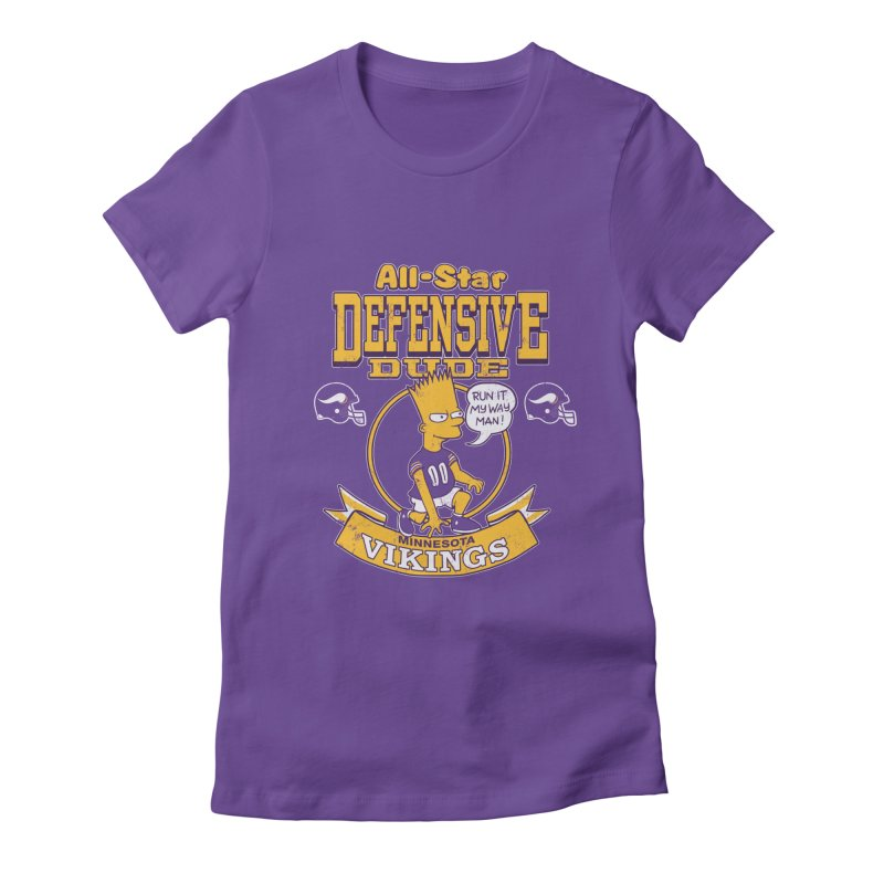 Minnesota Defensive Dude Women's Fitted T-Shirt by jublin's Artist Shop