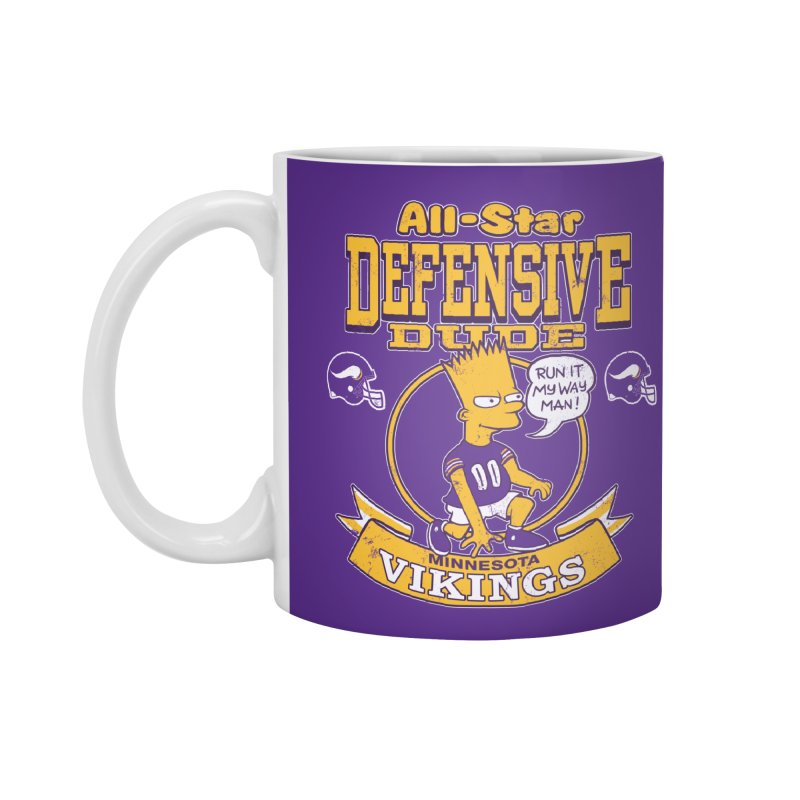Minnesota Defensive Dude Accessories Standard Mug by jublin's Artist Shop