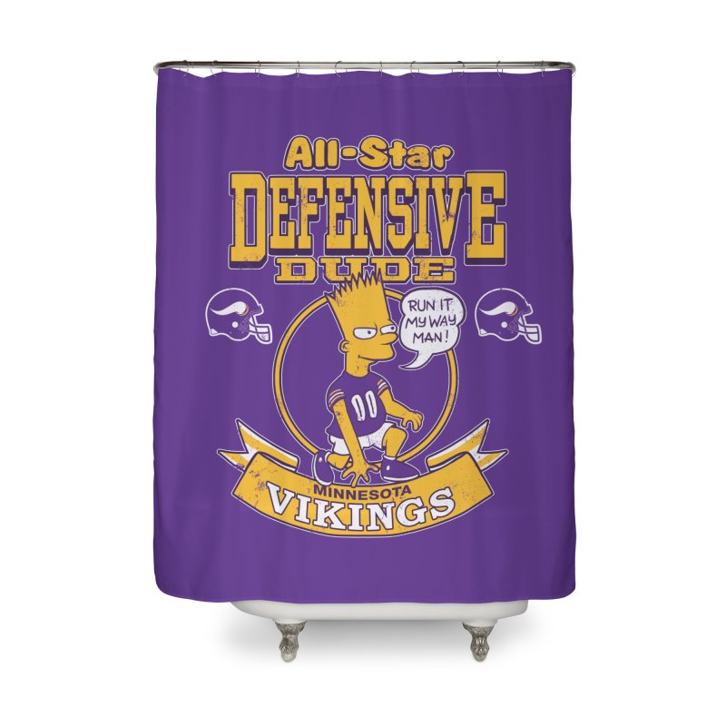 Minnesota Defensive Dude Home Shower Curtain by jublin's Artist Shop