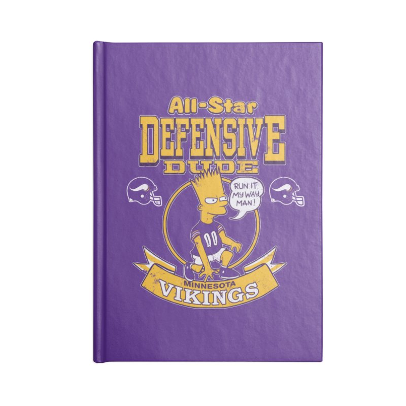 Minnesota Defensive Dude Accessories Lined Journal Notebook by jublin's Artist Shop