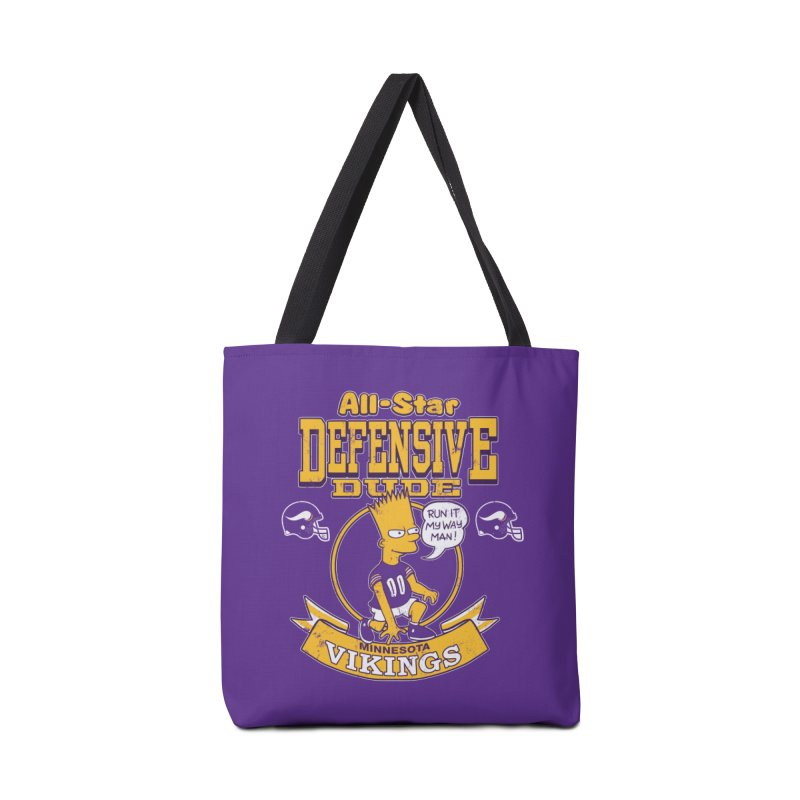 Minnesota Defensive Dude Accessories Tote Bag Bag by jublin's Artist Shop