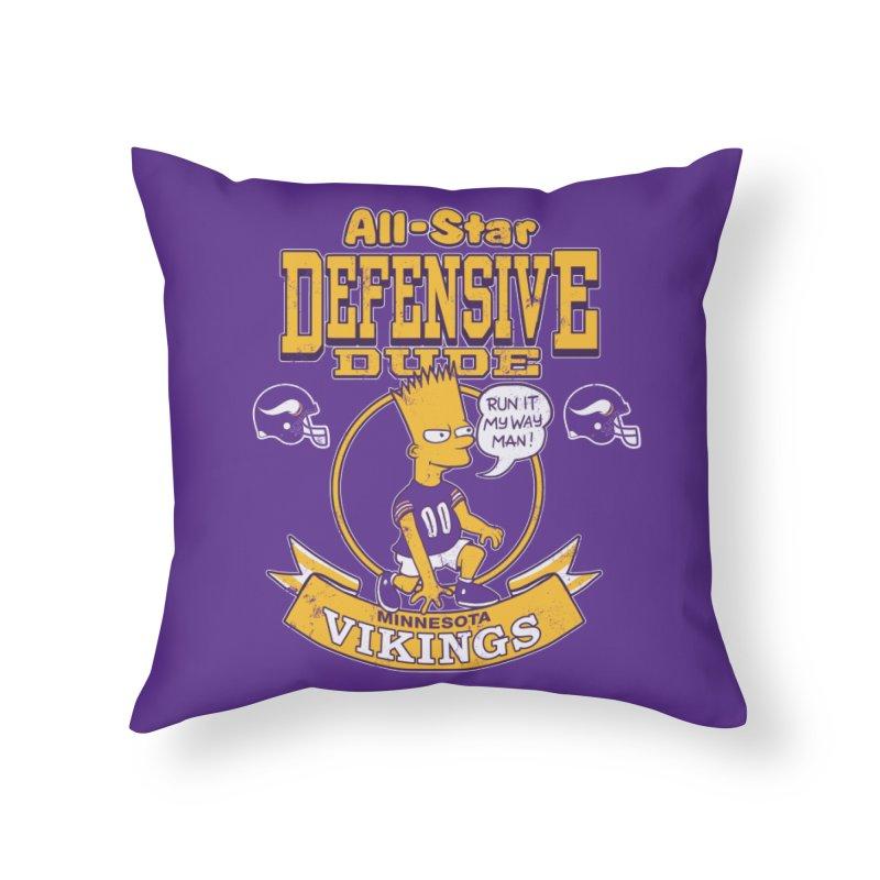 Minnesota Defensive Dude Home Throw Pillow by jublin's Artist Shop