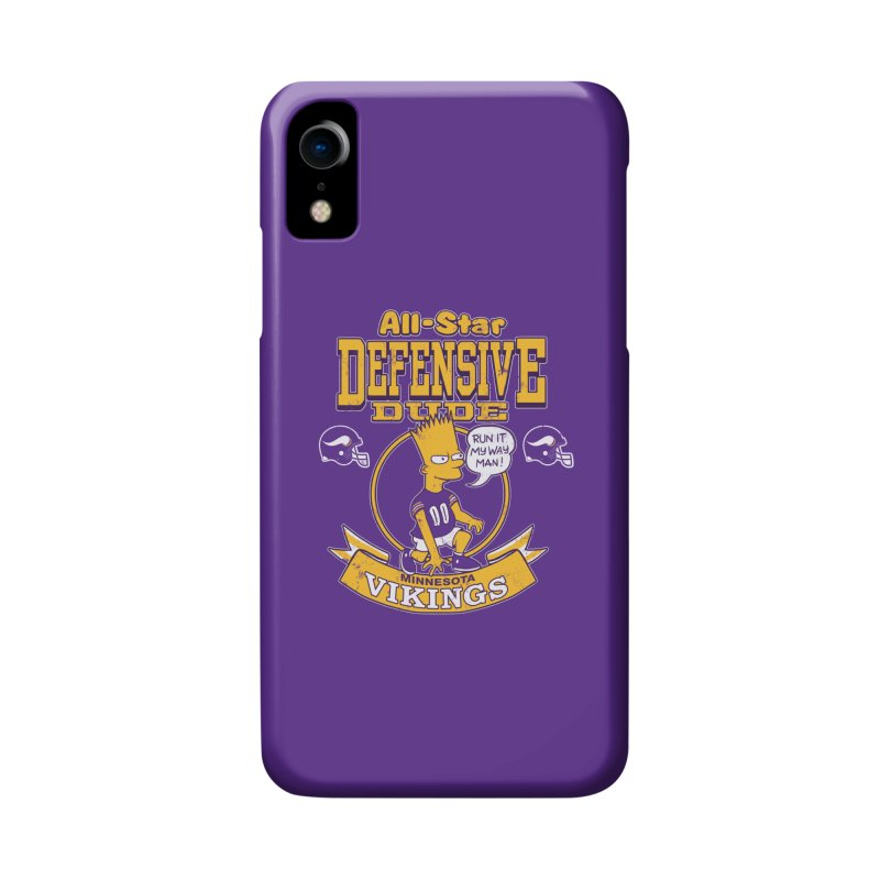 Minnesota Defensive Dude Accessories Phone Case by jublin's Artist Shop