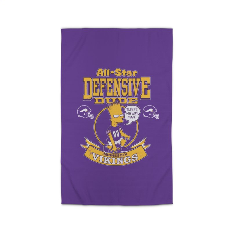 Minnesota Defensive Dude Home Rug by jublin's Artist Shop