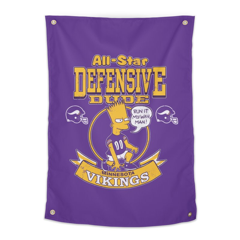 Minnesota Defensive Dude Home Tapestry by jublin's Artist Shop