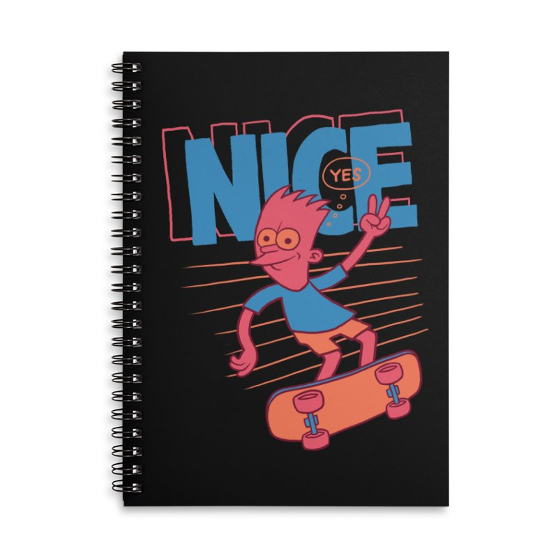 Nice Accessories Lined Spiral Notebook by jublin's Artist Shop