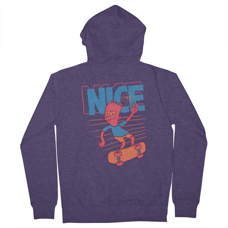 Nice Men's Zip-Up Hoody by jublin's Artist Shop
