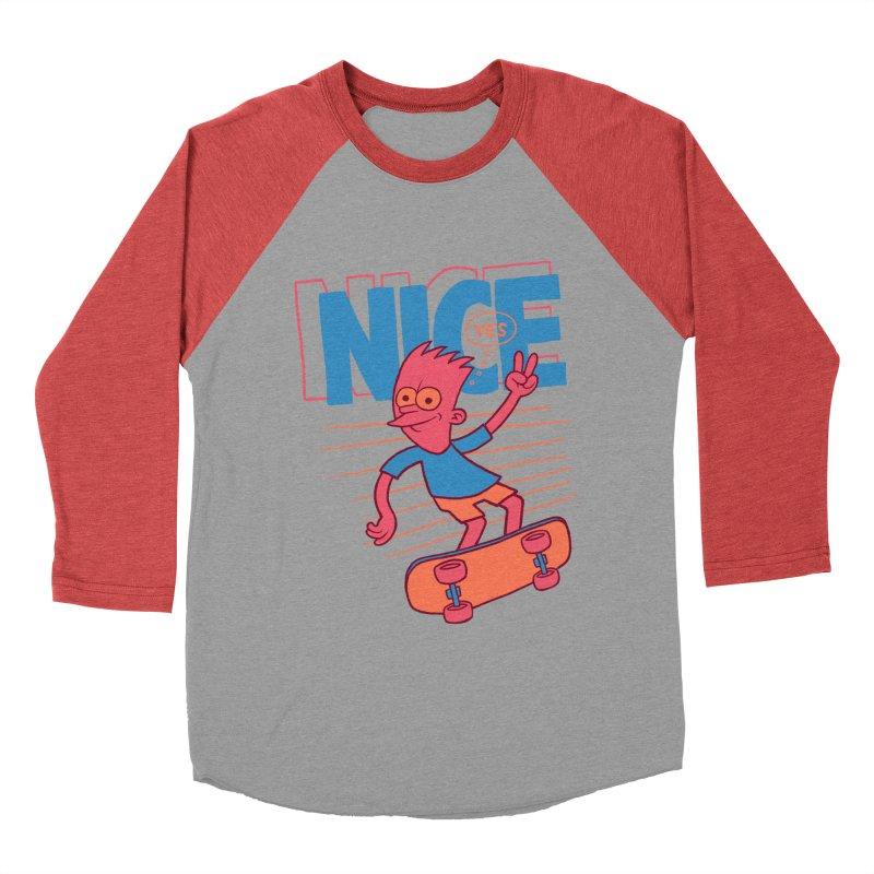 Nice Women's Baseball Triblend Longsleeve T-Shirt by jublin's Artist Shop
