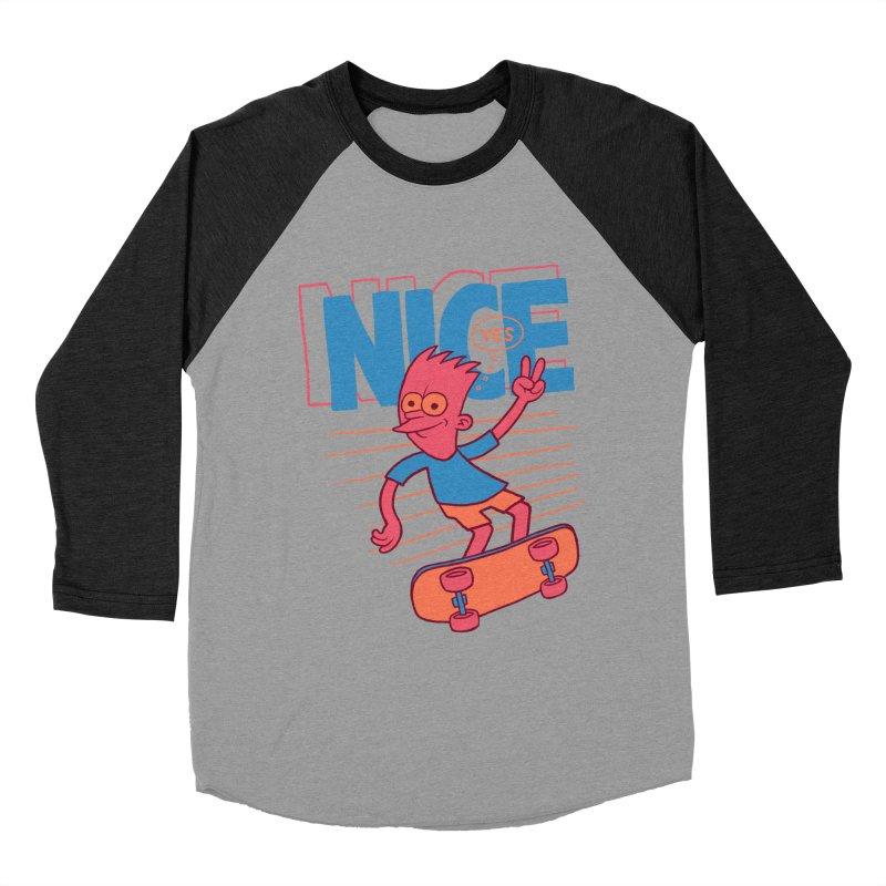 Nice Men's Baseball Triblend Longsleeve T-Shirt by jublin's Artist Shop