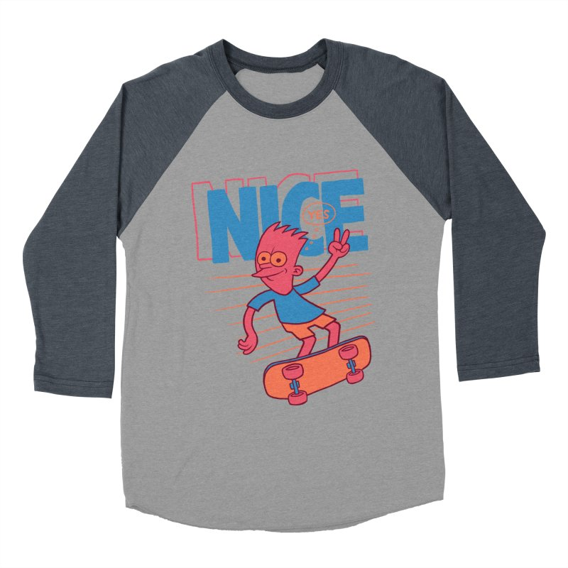 Nice Men's Baseball Triblend T-Shirt by jublin's Artist Shop