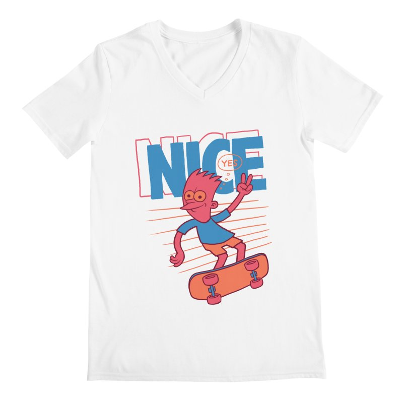 Nice Men's Regular V-Neck by jublin's Artist Shop