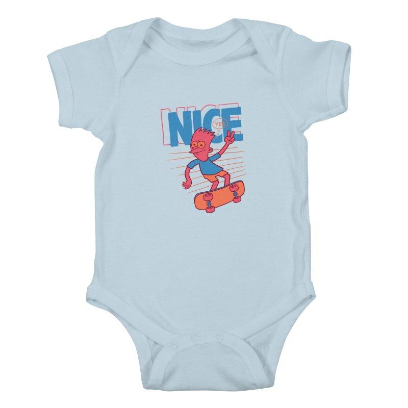 Nice Kids Baby Bodysuit by jublin's Artist Shop