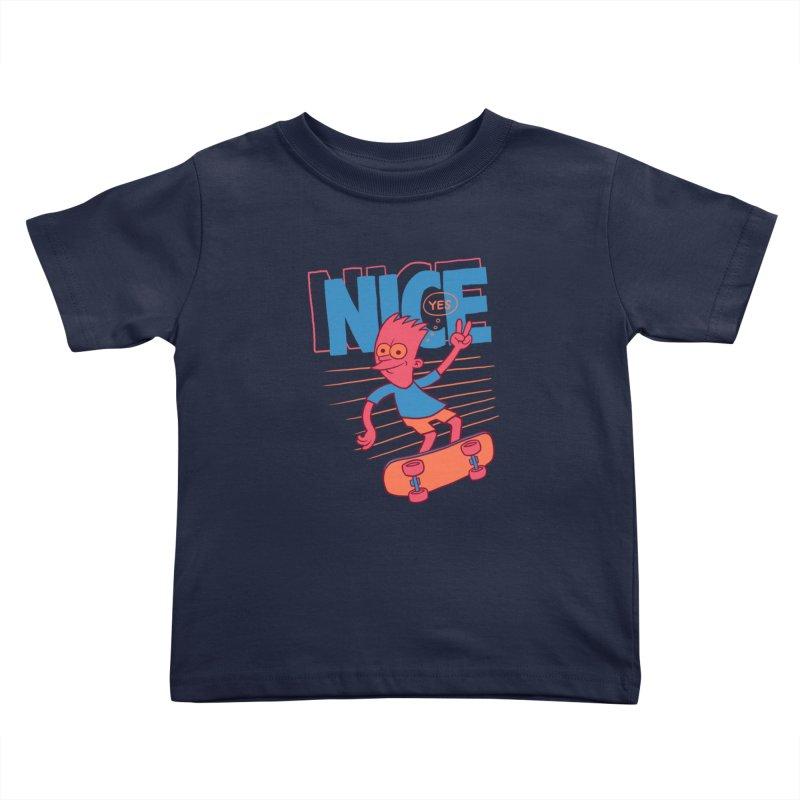 Nice Kids Toddler T-Shirt by jublin's Artist Shop