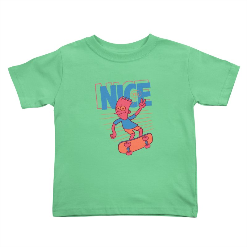 Nice Kids Toddler T-Shirt by jublin's Artist Shop