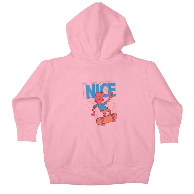 Nice Kids Baby Zip-Up Hoody by jublin's Artist Shop