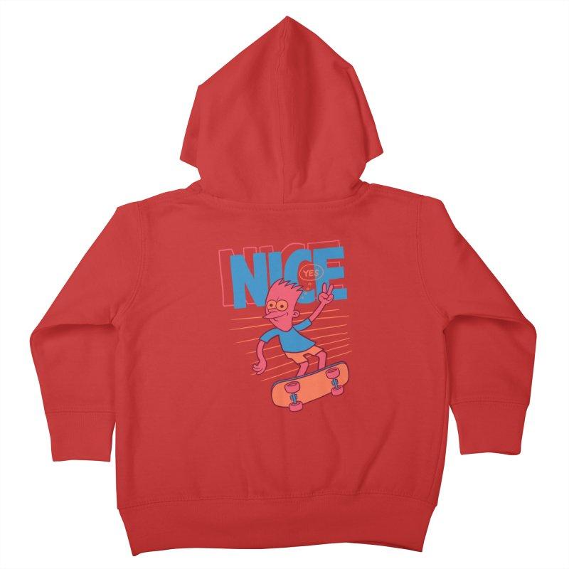Nice Kids Toddler Zip-Up Hoody by jublin's Artist Shop