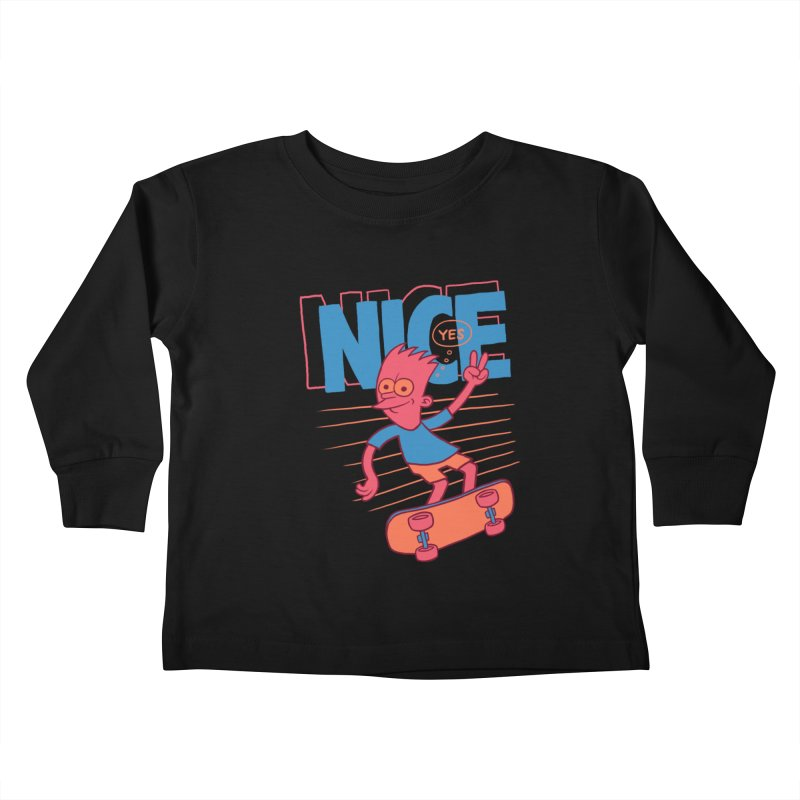 Nice Kids Toddler Longsleeve T-Shirt by jublin's Artist Shop