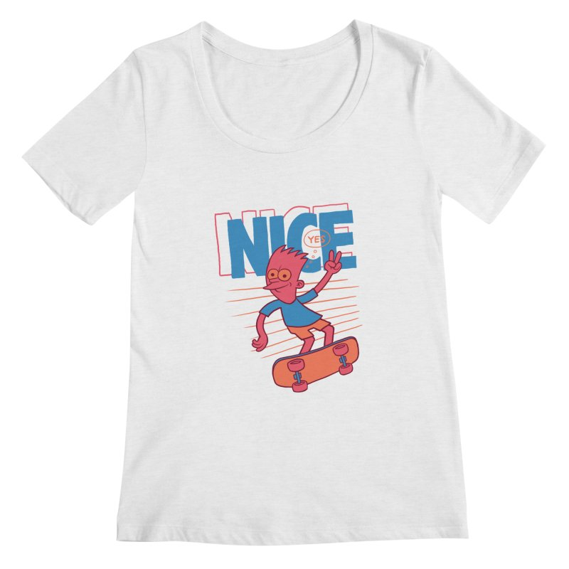 Nice Women's Regular Scoop Neck by jublin's Artist Shop