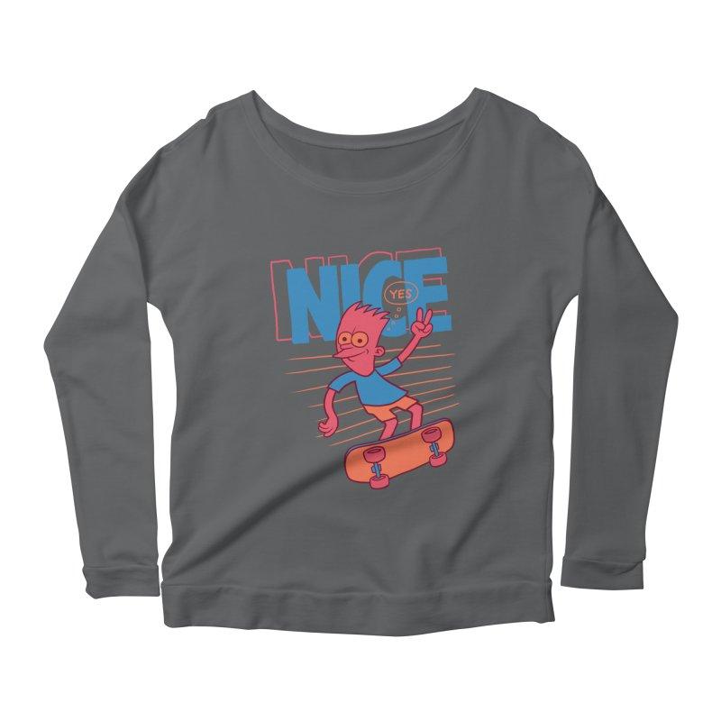 Nice Women's Scoop Neck Longsleeve T-Shirt by jublin's Artist Shop