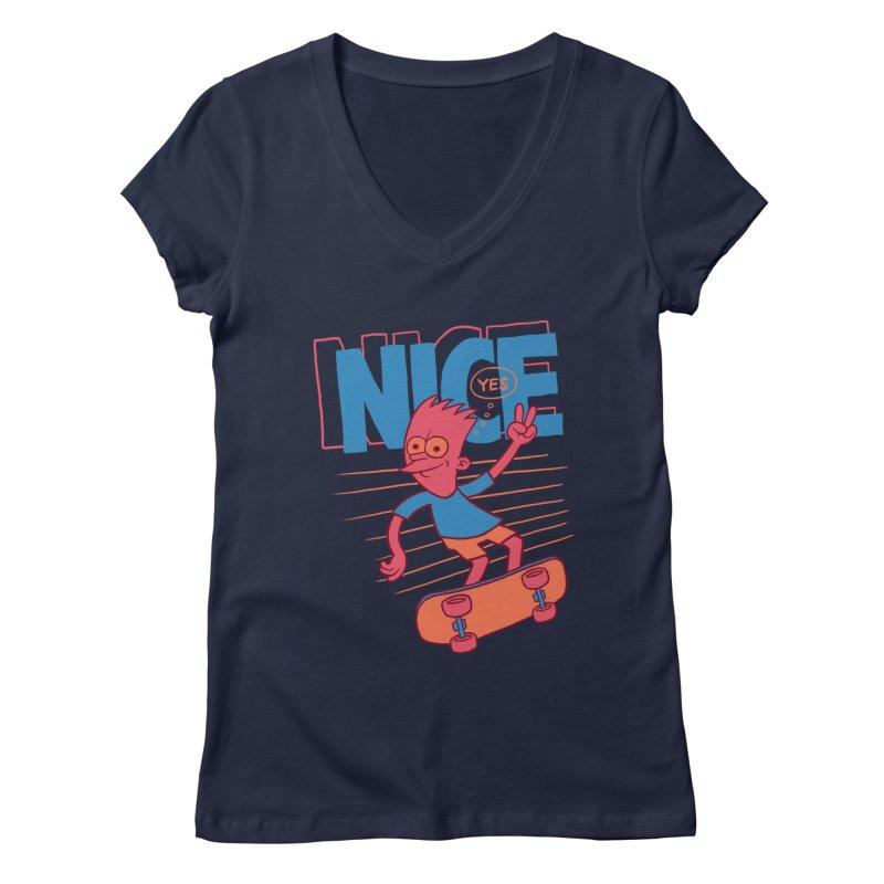 Nice Women's V-Neck by jublin's Artist Shop