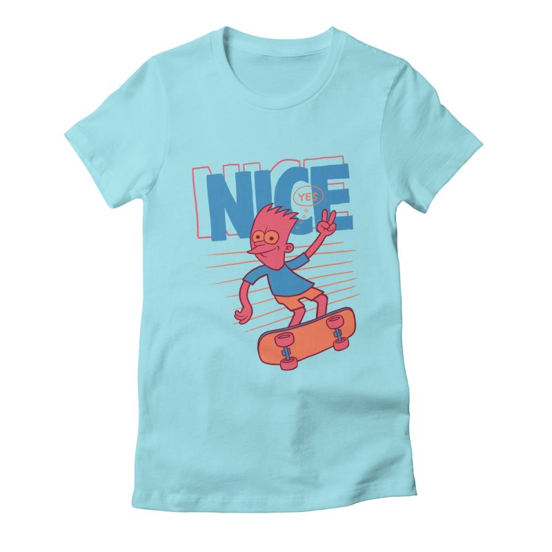 Nice Women's Fitted T-Shirt by jublin's Artist Shop