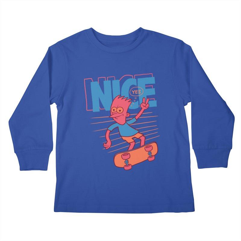 Nice Kids Longsleeve T-Shirt by jublin's Artist Shop