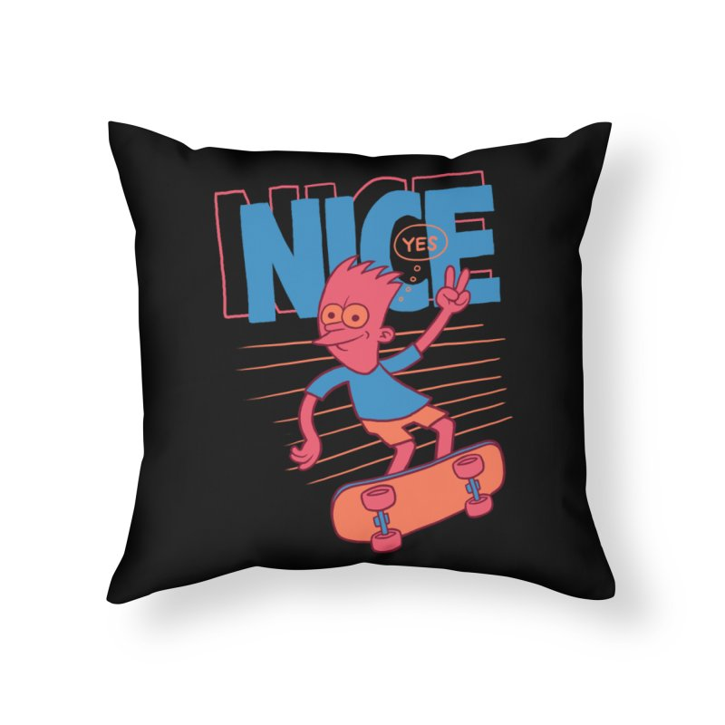 Nice Home Throw Pillow by jublin's Artist Shop
