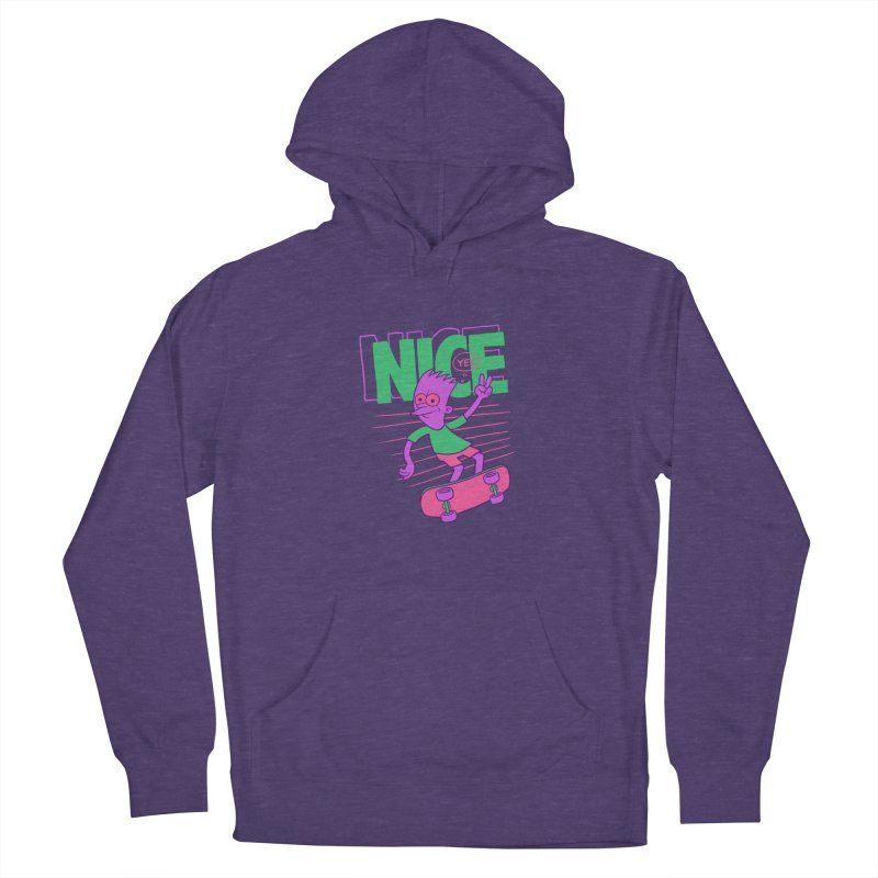 Nice 2000 Women's French Terry Pullover Hoody by jublin's Artist Shop