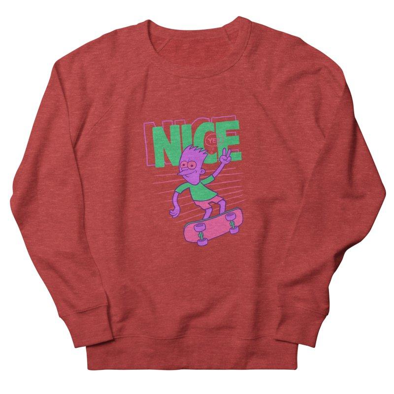 Nice 2000 Women's French Terry Sweatshirt by jublin's Artist Shop