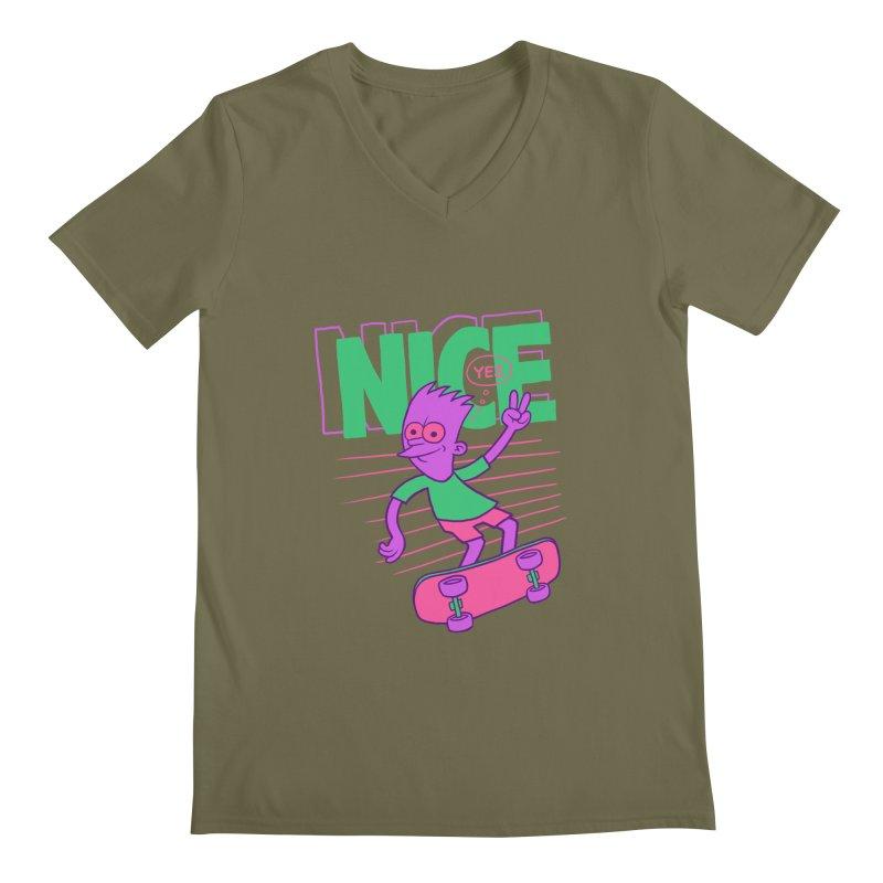 Nice 2000 Men's Regular V-Neck by jublin's Artist Shop