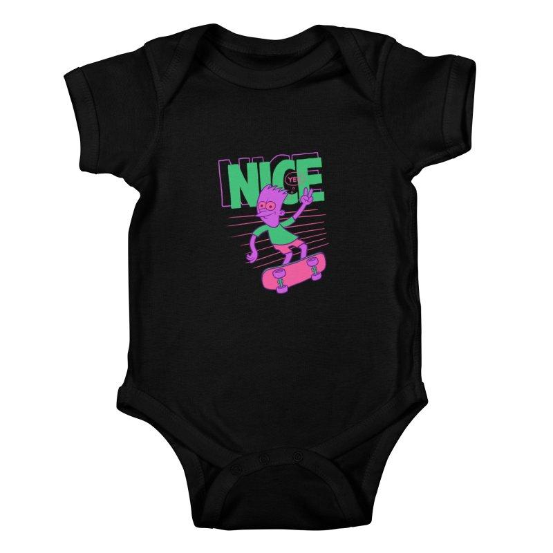 Nice 2000 Kids Baby Bodysuit by jublin's Artist Shop