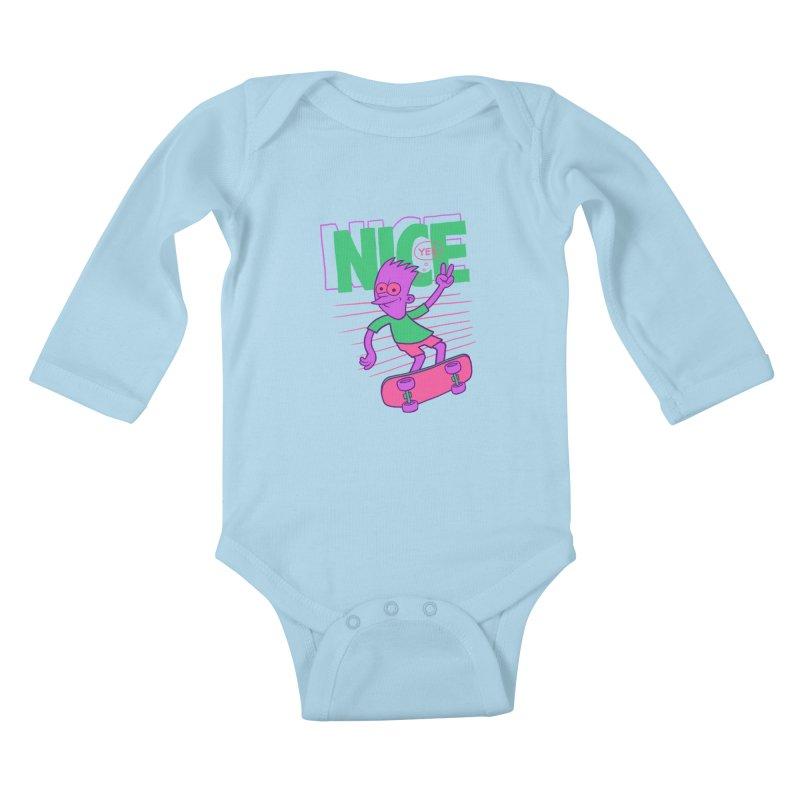 Nice 2000 Kids Baby Longsleeve Bodysuit by jublin's Artist Shop