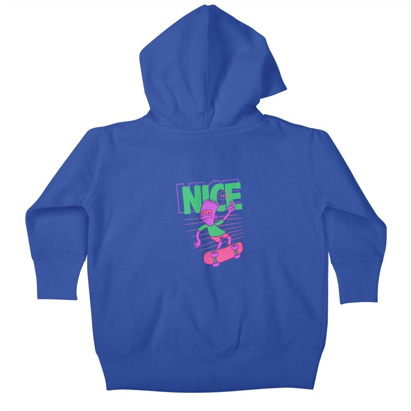 Nice 2000 Kids Baby Zip-Up Hoody by jublin's Artist Shop
