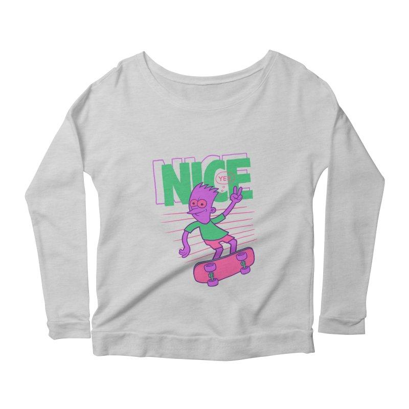 Nice 2000 Women's Scoop Neck Longsleeve T-Shirt by jublin's Artist Shop