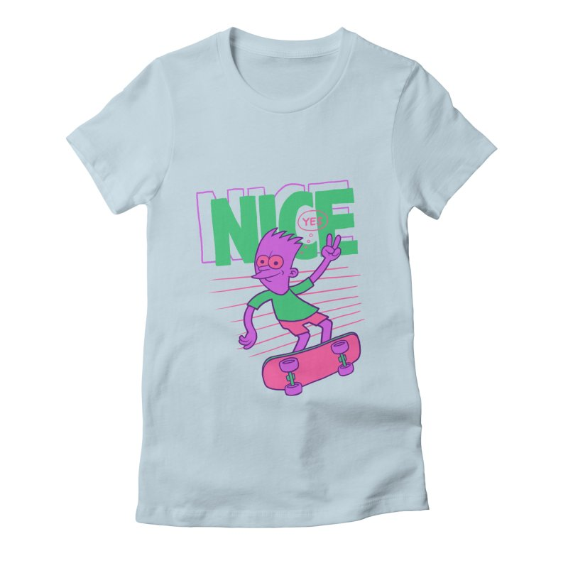 Nice 2000 Women's Fitted T-Shirt by jublin's Artist Shop