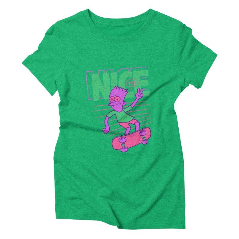 Nice 2000 Women's Triblend T-Shirt by jublin's Artist Shop