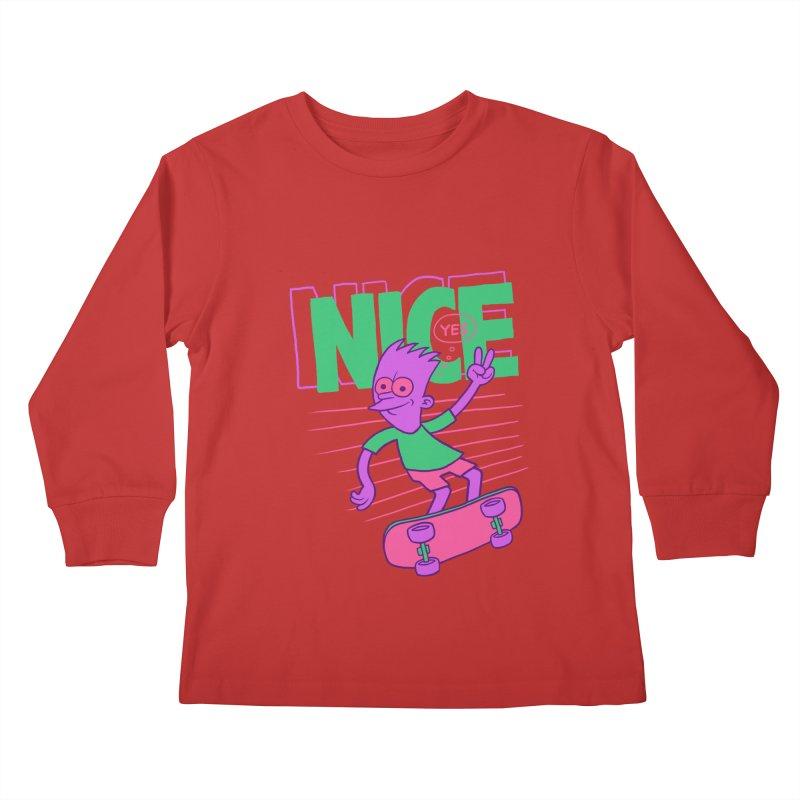 Nice 2000 Kids Longsleeve T-Shirt by jublin's Artist Shop