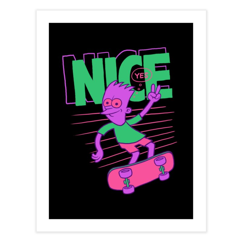 Nice 2000 Home Fine Art Print by jublin's Artist Shop