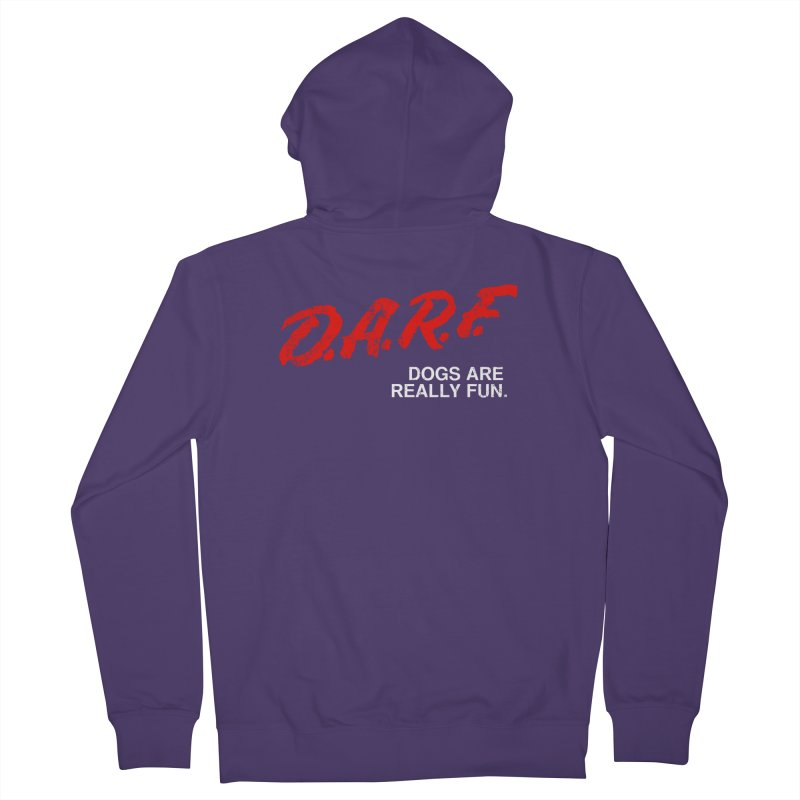 D.A.R.F. Women's Zip-Up Hoody by jublin's Artist Shop