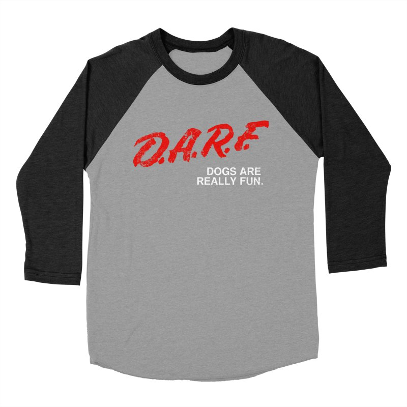 D.A.R.F. Women's Baseball Triblend T-Shirt by jublin's Artist Shop