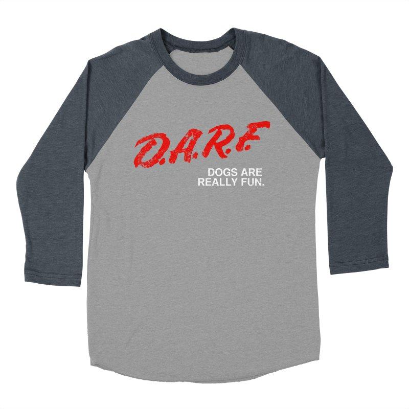 D.A.R.F. Women's Baseball Triblend Longsleeve T-Shirt by jublin's Artist Shop