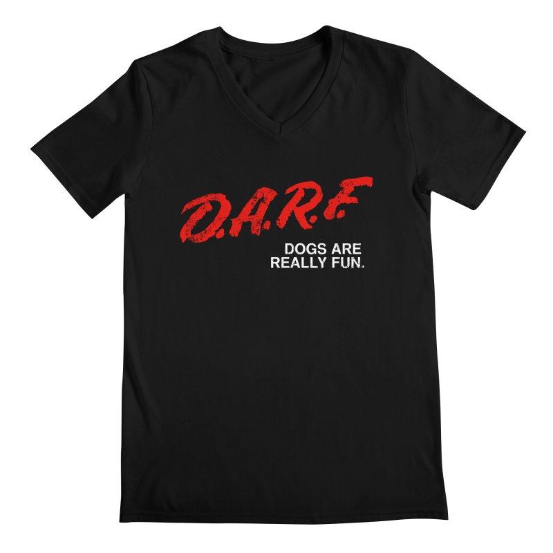 D.A.R.F. Men's V-Neck by jublin's Artist Shop